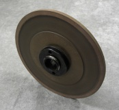 PART # TT-0814, Poly Bond Grinding Wheel 7″ x 1/4″ x 1-1/4″, 400 Grit w/ hub D&B