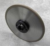PART # TT-0842, Super Steel Grinding Wheel 7″ x 1/2″ x 1-1/4″, 320 Grit w/ hub, D&B