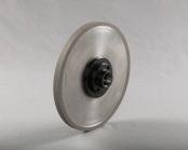 PART # TT-0844, Revo Grinding Wheel 8″ x 1/2″ x 1-1/4″, 220 Grit w/ hub, D&B