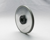 PART # TT-0847, Resin Bond Diamond Roller Dress Wheel 7″ x 1/2″ x 1-1/4″, 220 Grit for 5″ Unit w/ hub D&B